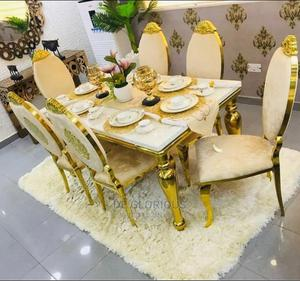 Golden Dinning Table by 6 | Furniture for sale in Lagos State, Ajah