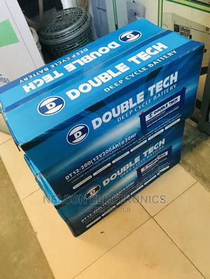 Double Tech Solar Battery 12v 200ahs With Warranty | Solar Energy for sale in Abuja (FCT) State, Central Business District
