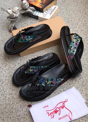 Louboutin Leather Slippers for Men's | Shoes for sale in Lagos State, Lagos Island (Eko)