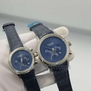 Citizen Chronograph Silver Leather Strap Watch for Couple's | Watches for sale in Lagos State, Lagos Island (Eko)
