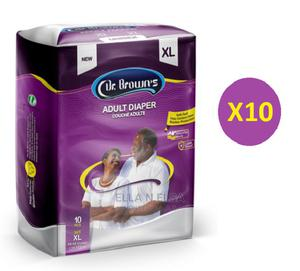Dr Browns Adult Diaper/Pampers 10 Packs Extra Large | Bath & Body for sale in Lagos State, Ikeja