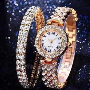 Lovely Women's Bling Wristwatch and Bracelet Set | Watches for sale in Lagos State, Ojota