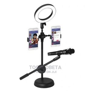 Mobile Phone Ring Light and Mic Stand | Accessories & Supplies for Electronics for sale in Lagos State, Ikeja