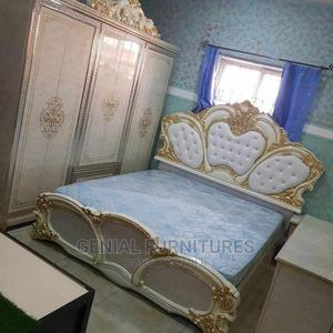 Bed With Wardrobe and Mirror Console   Furniture for sale in Lagos State, Ojo