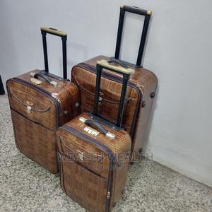 Trolley Luggages (Leather 3 Set)   Bags for sale in Lagos State, Ikeja