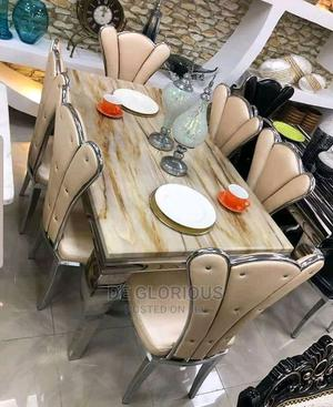 Gold Dinning Table by 6 | Furniture for sale in Lagos State, Victoria Island