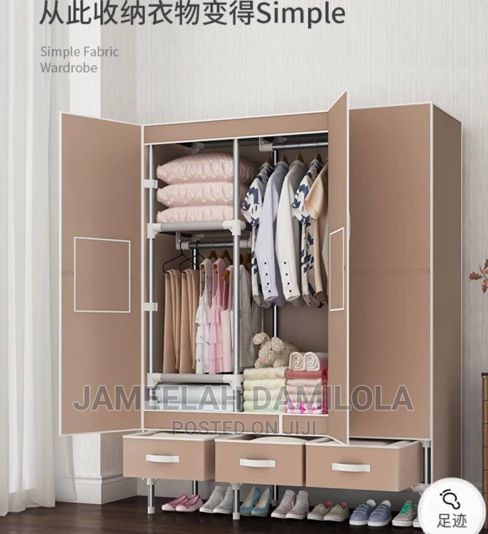 Classy Mobile Steel Wardrobe With Three Drawers