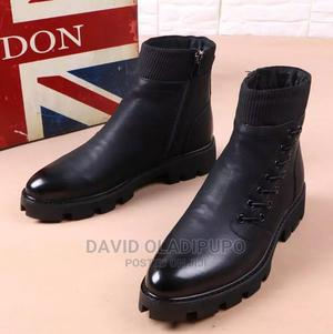 Mens High Top Faux Leather Fashion Military Ankle Boots   Shoes for sale in Lagos State, Ikeja