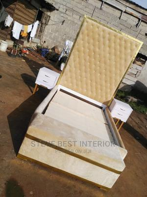 6×6 Design Bed Frame With Automan.   Furniture for sale in Lagos State, Ojo