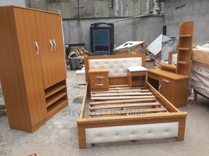 4by6 Bed Set With Wardrobe. | Furniture for sale in Lagos State, Ojo