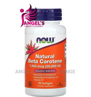 Now Foods Natural Beta Carotene 7,500 Mcg (25,000IU) 90 Caps   Vitamins & Supplements for sale in Lagos State, Ojo