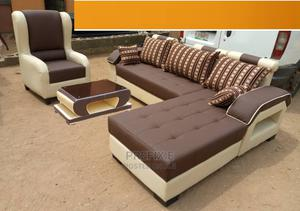 L-Shape Sofa, Single Chair and Table. Sectional Couches   Furniture for sale in Lagos State, Ajah