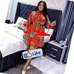 Smart Female Zebra Print Red Short Dress   Clothing for sale in Lagos State, Ikeja