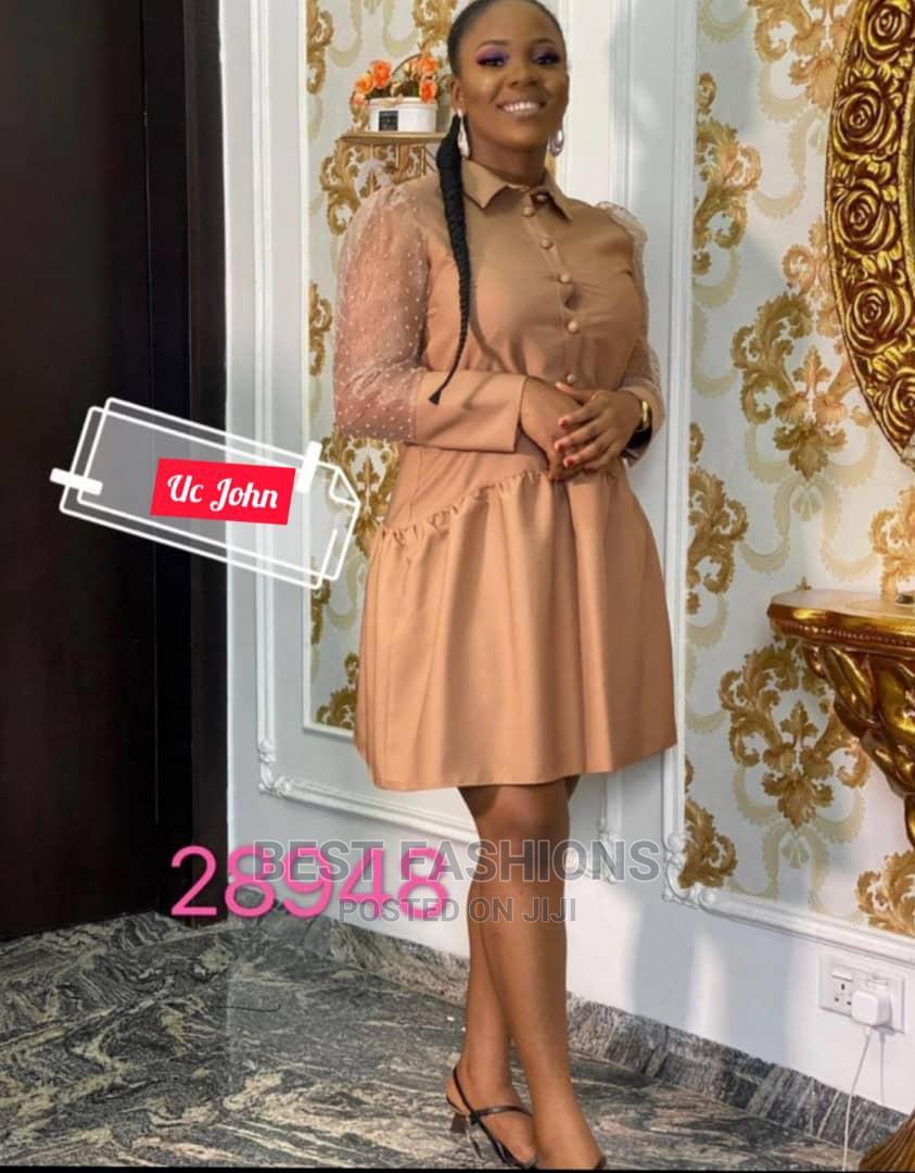 Smart Formal Female Brown Short Dress | Clothing for sale in Ikeja, Lagos State, Nigeria