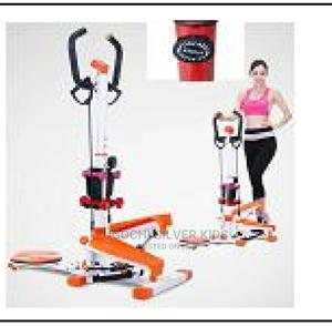 Standing Stepper With Aerobic Exercise Dumbbells | Sports Equipment for sale in Lagos State, Surulere