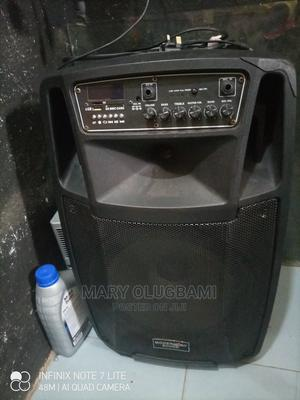 Rent Rechargeable Bluetooth Speaker With Two Wireless Mic   Audio & Music Equipment for sale in Lagos State, Isolo