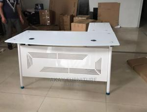 White Glass Table Size 1.4meters | Furniture for sale in Lagos State, Egbe Idimu