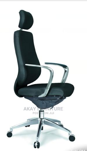 Executive Leather Swivel Office Chair With Headrest | Furniture for sale in Lagos State, Maryland