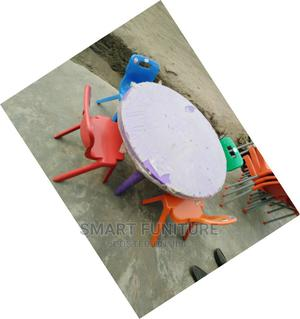 Round Children's Plastic Table With Chairs   Children's Furniture for sale in Lagos State, Lekki