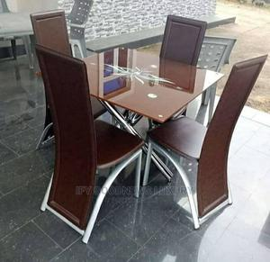 Glass Dinning Table by 4 Chairs | Furniture for sale in Lagos State, Ajah
