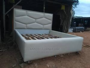 6 by 6 White Executive Bed Frame   Furniture for sale in Lagos State, Ikeja