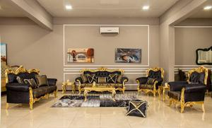 Executive Golden Black Set of Sofa With Center Table | Furniture for sale in Lagos State, Ikeja