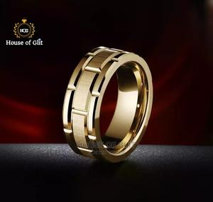 HOG Gold Colour Original Tungsten for Male Wedding Ring | Wedding Wear & Accessories for sale in Imo State, Owerri