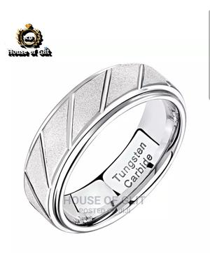 HOG Silver Colour Solid Tungsten Wedding Ring for Men | Wedding Wear & Accessories for sale in Imo State, Owerri