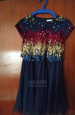 Lovely Blue Dress for 6-8yrs Old Girl Wit Sequins Design. | Children's Clothing for sale in Oyo State, Ibadan
