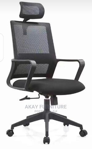 Black Mesh Swivel Office Chair | Furniture for sale in Lagos State, Lagos Island (Eko)