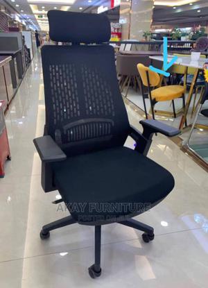 Black Mesh Swivel Office Chair | Furniture for sale in Lagos State, Lekki