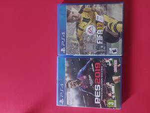 Pes 2019 Fifa 17 for Ps 4   Video Games for sale in Lagos State, Isolo
