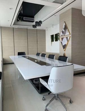 White Conference Table for 10people Size 3meters | Furniture for sale in Lagos State, Victoria Island