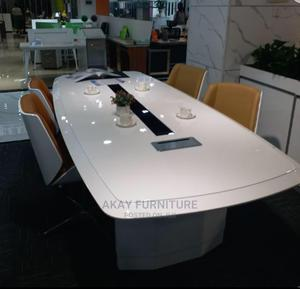 White Conference Size 2.8meters for 8people | Furniture for sale in Lagos State, Magodo