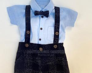 Baby Boy Naming Or Dedication Dungarees Set   Children's Clothing for sale in Lagos State, Isolo