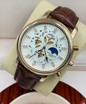 Patek Philippe Men's Brown Leather Wristwatch   Watches for sale in Lagos State, Surulere