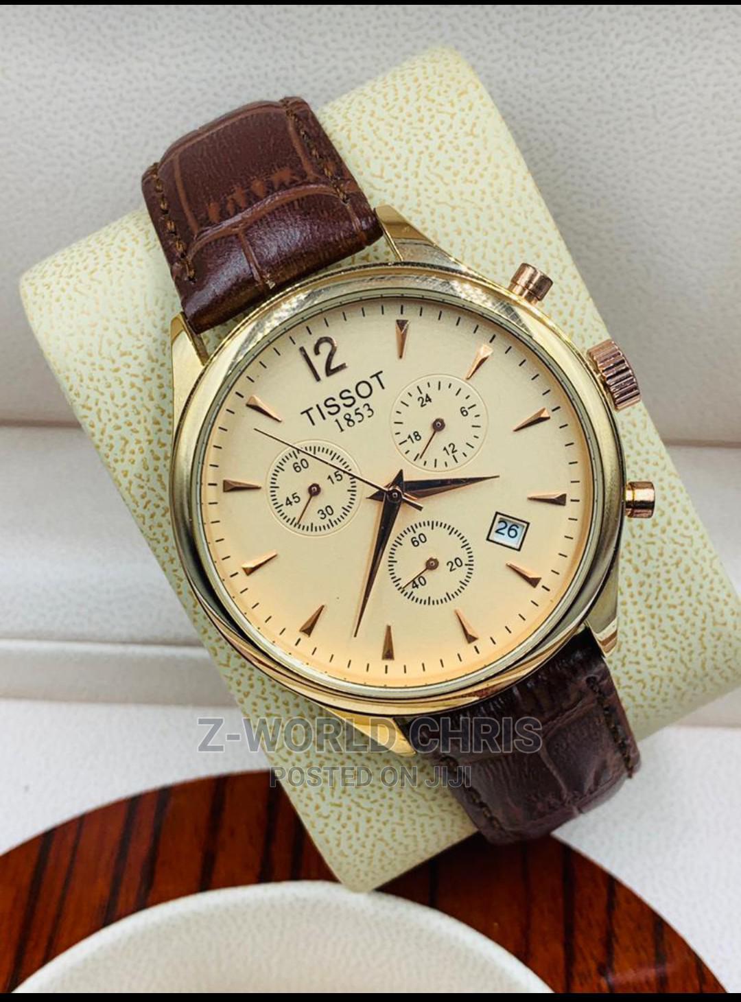 Tissot Men's Brown Leather Wristwatch