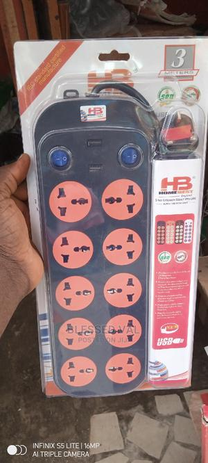 10 Way Extension Socket With USB Super Surge Protector | Accessories & Supplies for Electronics for sale in Lagos State, Ikoyi