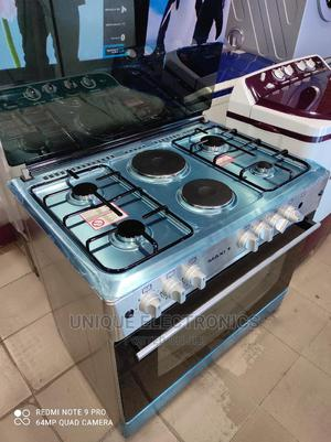 Maxi Gas Cooker 4gas 2 Electric Standing + Oven + Ignition | Kitchen Appliances for sale in Lagos State, Apapa