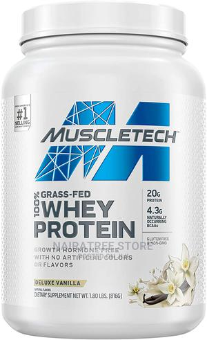 Muscletech Grass Fed 100% Whey Protein, Vanilla Flavour.   Vitamins & Supplements for sale in Lagos State, Lekki