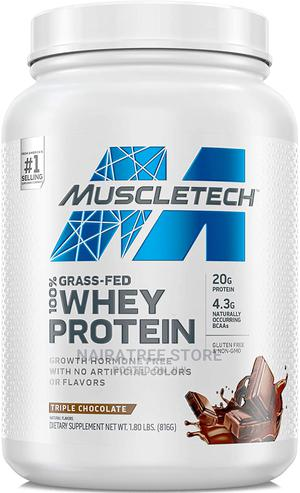 Muscletech Grass Fed 100% Whey Protein, Chocolate Flavour.   Vitamins & Supplements for sale in Lagos State, Lekki