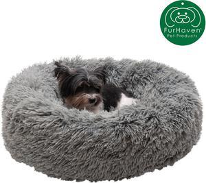 Calming Cuddler Long Fur Donut Bolster Dog Bed | Pet's Accessories for sale in Lagos State, Lekki