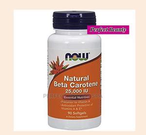Now Foods Natural Beta Carotene 7,500mcg ( 25,000IU) 90 Caps   Vitamins & Supplements for sale in Lagos State, Ikeja