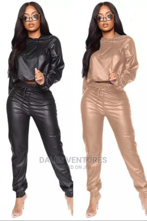 2021 Two Piece PU Leather Women Elegant Pants Suits | Clothing for sale in Lagos State, Lekki