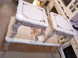White Royal Table With Side Stool's | Furniture for sale in Lagos State, Lekki