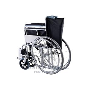 Lightweight Portable Folding Manual Wheelchair | Medical Supplies & Equipment for sale in Abuja (FCT) State, Garki 1