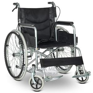 Portable Folding Manual Wheelchair | Medical Supplies & Equipment for sale in Abuja (FCT) State, Kubwa