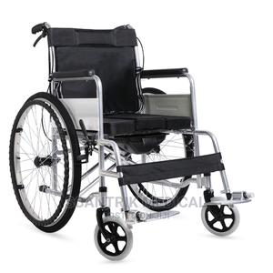 Manual Steel Lightweight Folding Hospital Wheelchair | Medical Supplies & Equipment for sale in Abuja (FCT) State, Gwarinpa