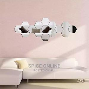 12pcs 3d Mirror Hexagon Vinyl Removable Wall Sticker | Home Accessories for sale in Rivers State, Port-Harcourt