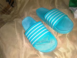 Blue Adidas Slippers | Shoes for sale in Lagos State, Ifako-Ijaiye